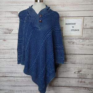Lauren Ralph Lauren cable knit poncho O/S